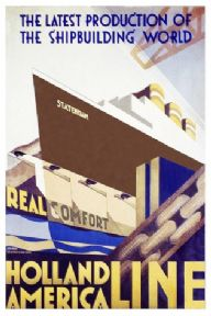 Shipping poster. Holland to America line